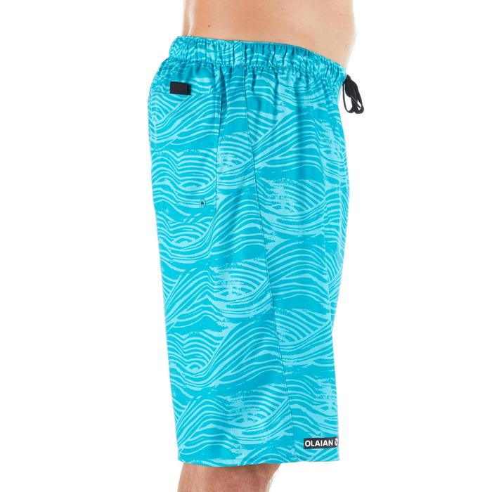 Lange Boardshorts Surfen 100 Fake Stamp türkis
