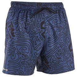 Korte surf boardshort 100 Labyrint zwart