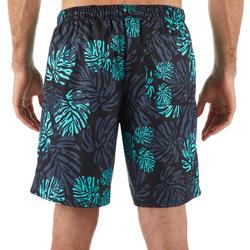 標準衝浪短褲100-綠色葉片款