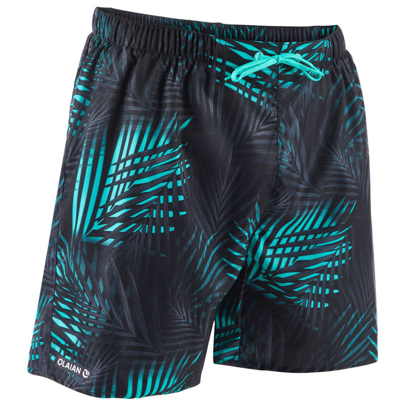 MEN'S BEGINNER BOARDSHORTS Swimwear and Beachwear - 100 BBS Palm Mint OLAIAN - Swimwear and Beachwear