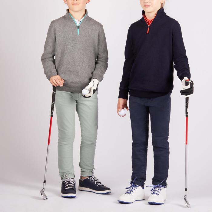 Golf Pullover winddicht Kinder grau