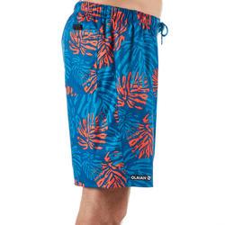 標準衝浪褲100-紅色及葉子款