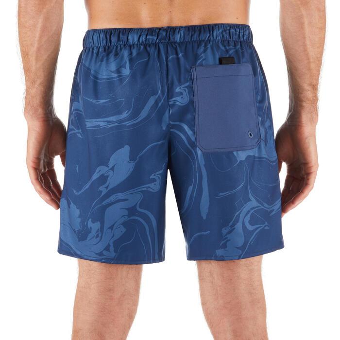 "Bañador Corto Surf Olaian 100 Aqua Hombre Azul Marino Estampado 16"""