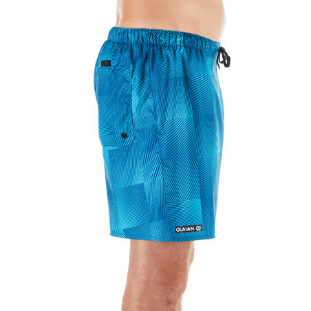 100 Short Surfing Boardshorts Square Blue