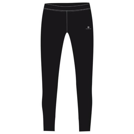 b1cfb44dd2f9ed S500 Girls' Gym Breathable Synthetic Warm Leggings - Black   Domyos by  Decathlon