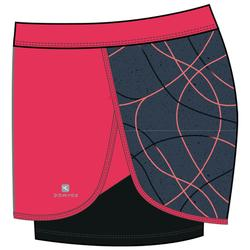 Short transpirable W900 niña GIMNASIA JÚNIOR rojo estampado