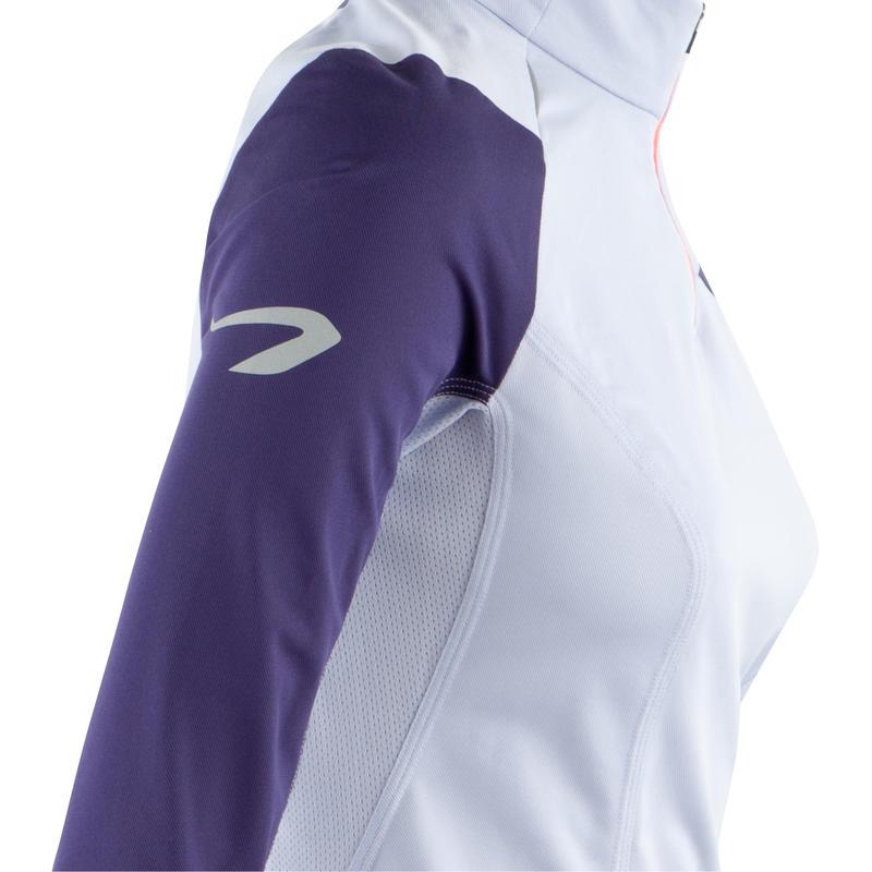 Tee shirt manche longue kiprun trail running femme mauve
