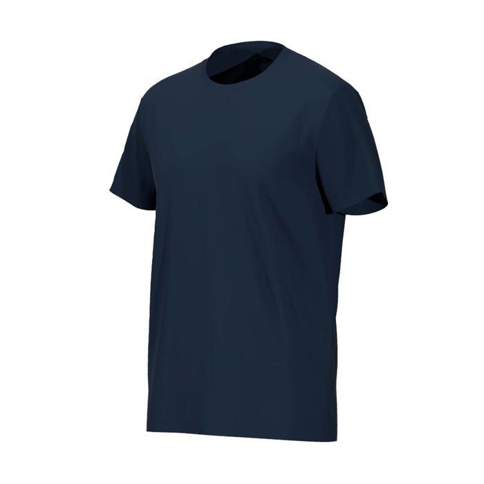 T-shirt voor pilates/lichte gym heren 100 regular fit 100% katoen marineblauw