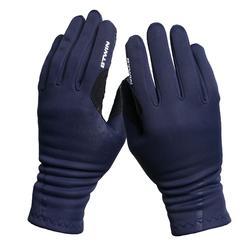 換季用自行車手套500 - 藍色
