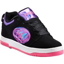 Schoenen op wieltjes Heelys Dual Up voor meisjes fluokleuren zwart paars