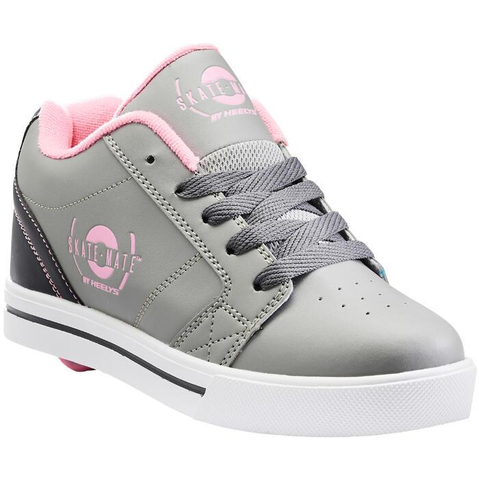 Heelys Schuhe mit Fersenrollen Skate-Mate grau/rosa
