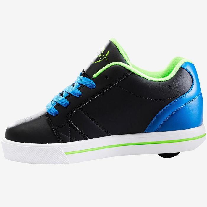 Rolschoenen Skate Mate zwart/blauw één wiel