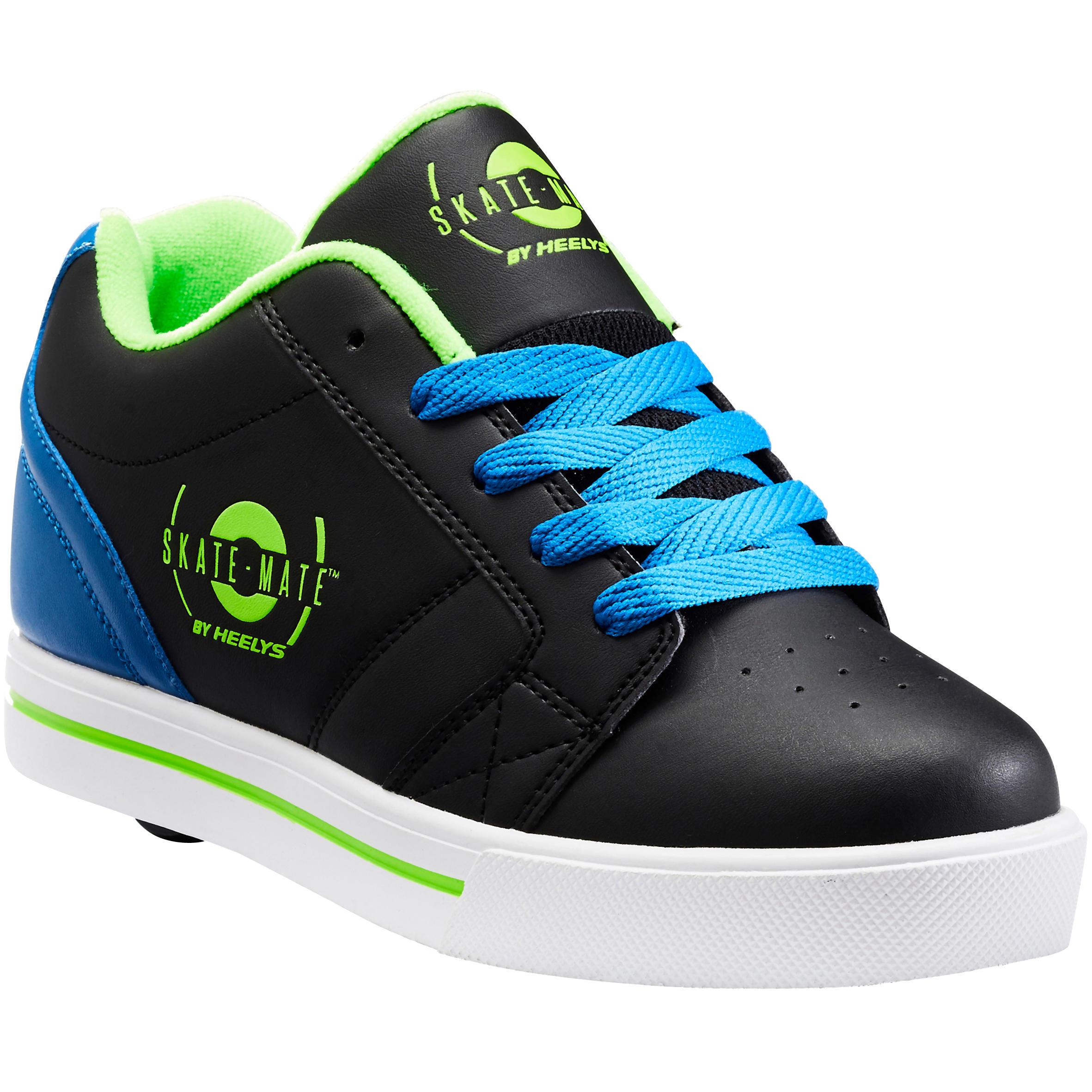 Chaussures heelys skate mate noir bleu une roue heelys
