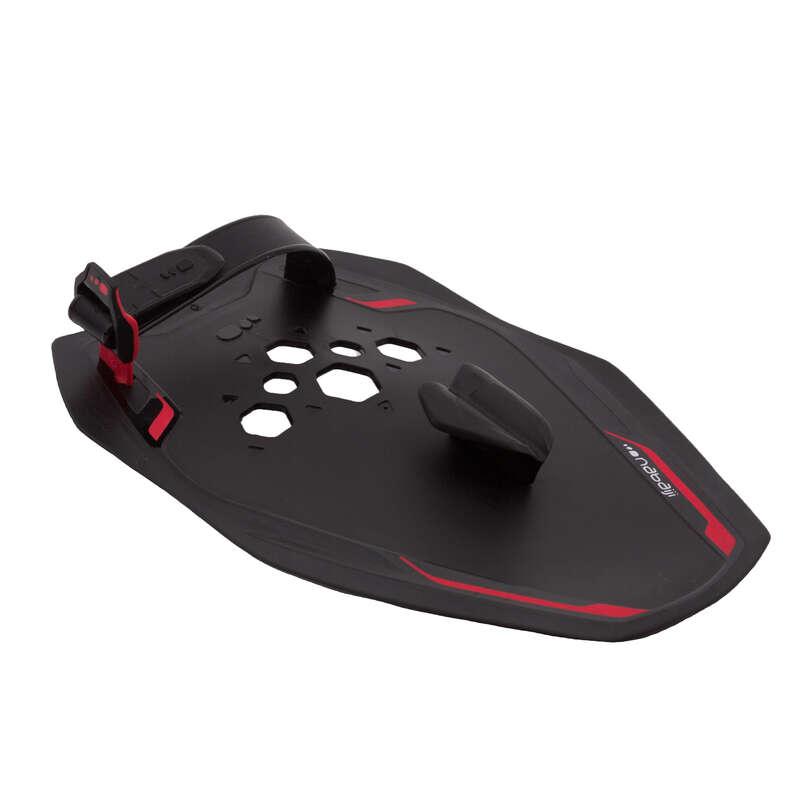 MATERIAL Swimming - SWIMMING PADDLES - BLACK RED NABAIJI - Swimming Aids