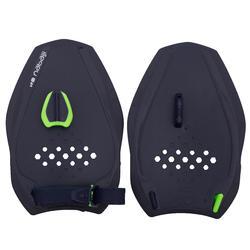 Zwempaddles 500 Quick'In maat M blauw/groen