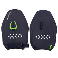 SWIMMING HAND PADDLES QUICK'IN SIZE M - BLUE GREEN