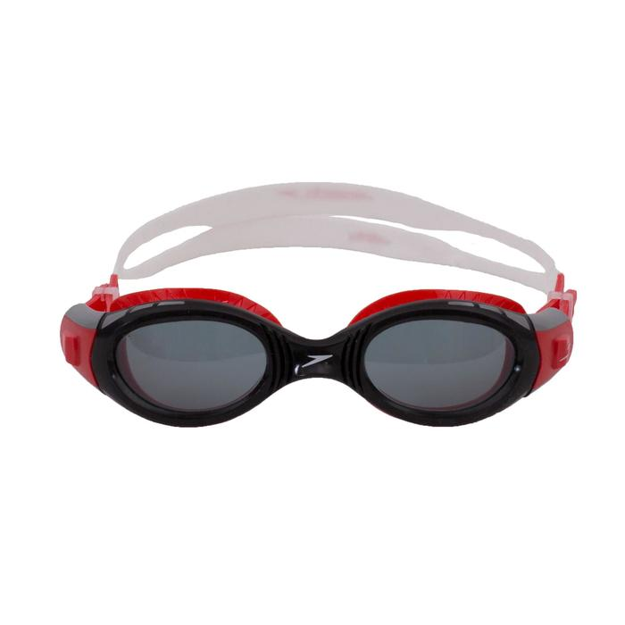 Zwembril Futura Biofuse maat S rood heldere glazen