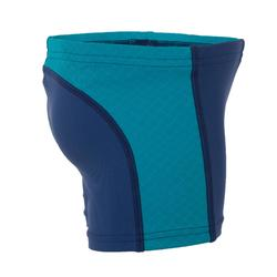 Blue baby boy's swim boxer shorts with inserts