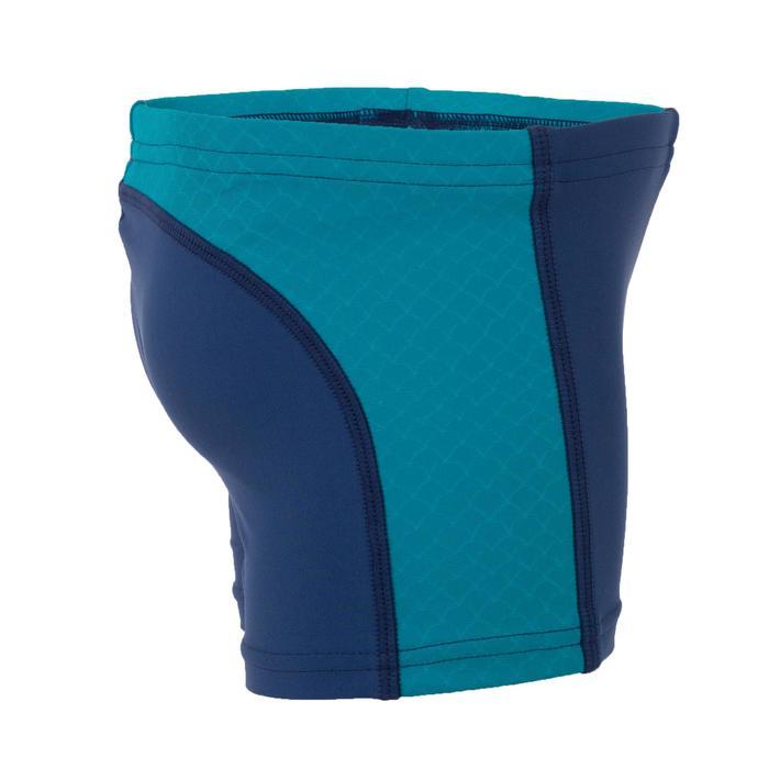 Zwemboxer voor jongens blauw met inzetstukken