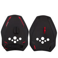 QUICK'IN 900 SWIMMING PADDLES - BLACK RED