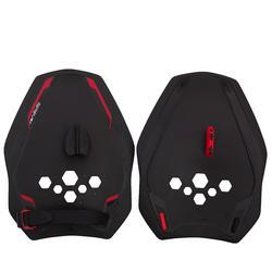Zwempaddles Quick'In 900 zwart/rood