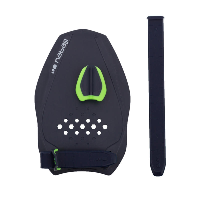 500 QUICK'IN SWIMMING PADDLES, SIZE S - BLUE GREEN