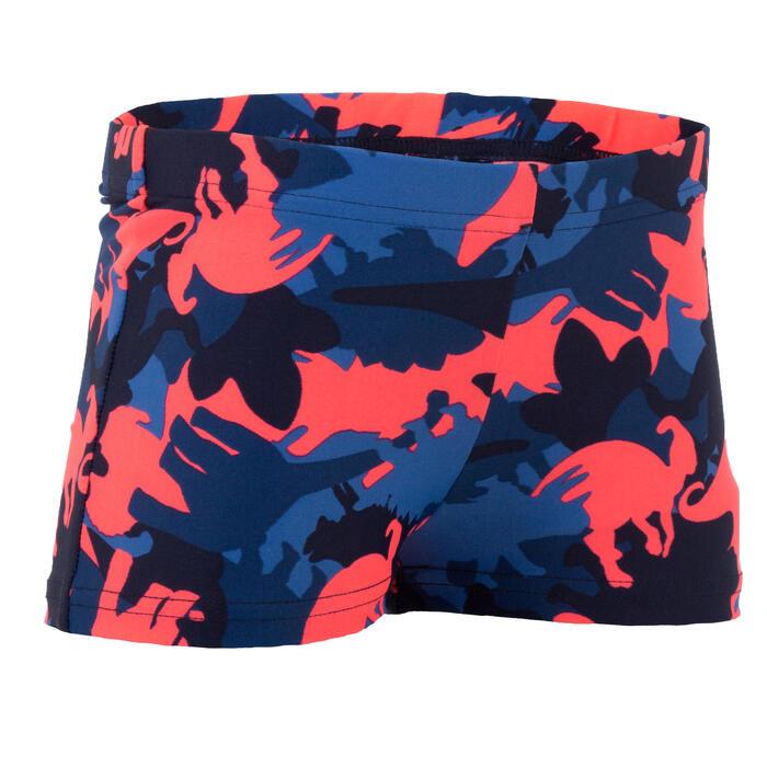 Zwemboxer jongens print Dino blauw en rood
