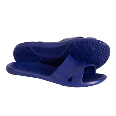 WOMEN'S SLAP 100 POOL SANDALS - BASIC DARK BLUE