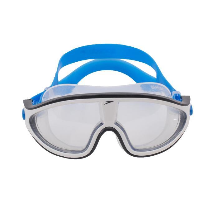 Schwimmmaske Rift klar Größe L blau/weiß