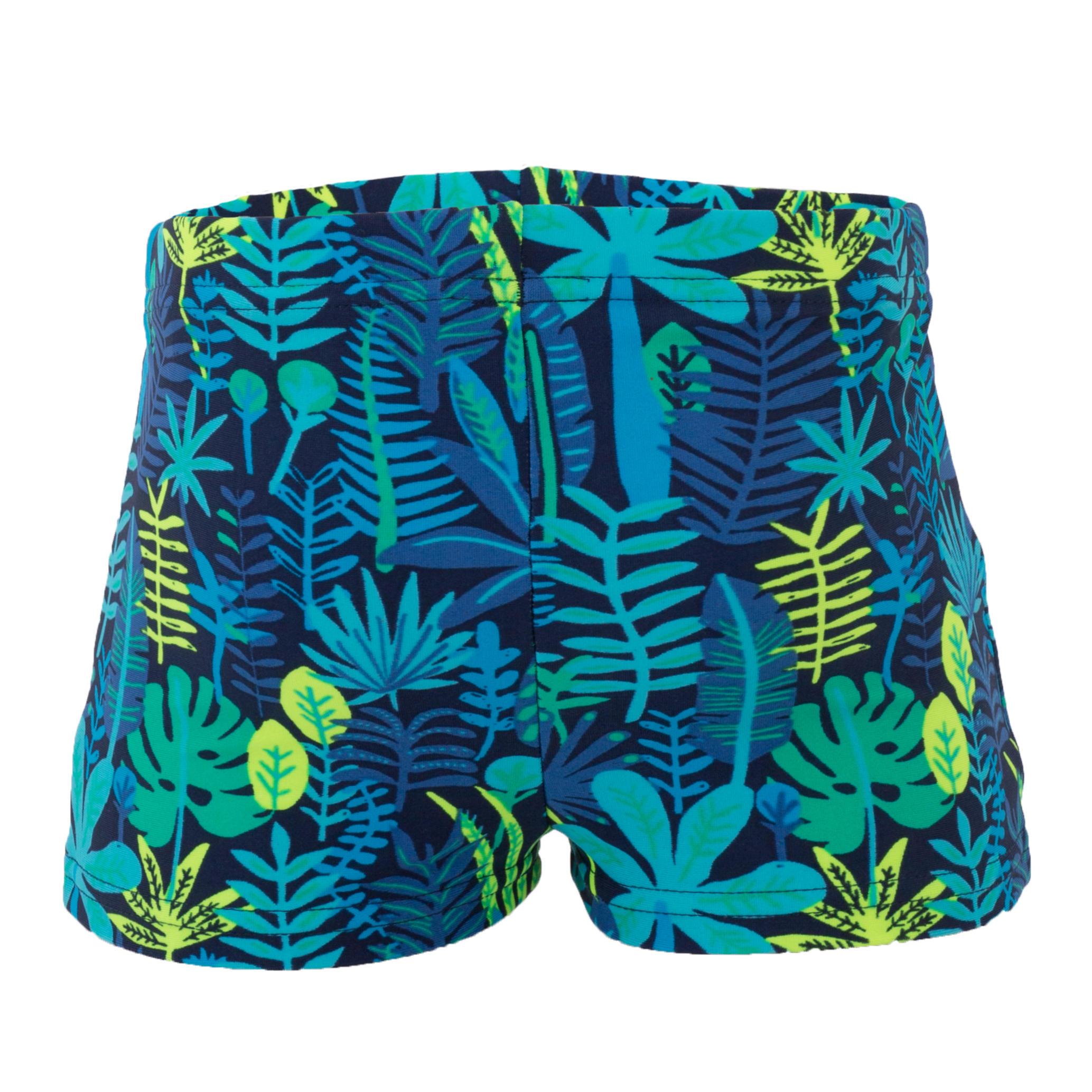 b8bc90a9905a Bañador bebé niño bóxer estampado selva azul - Decathlon