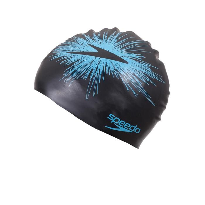 Omkeerbare siliconen badmuts Speedo zwart/blauw
