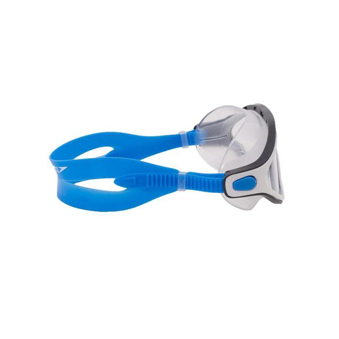 Zwembril Rift transparant maat L blauw/wit