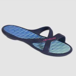 Badslippers voor zwemsport dames Slap 500 blauw/groen