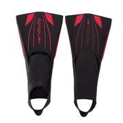 Črne in rdeče dolge plavalne plavuti TOPFINS 900