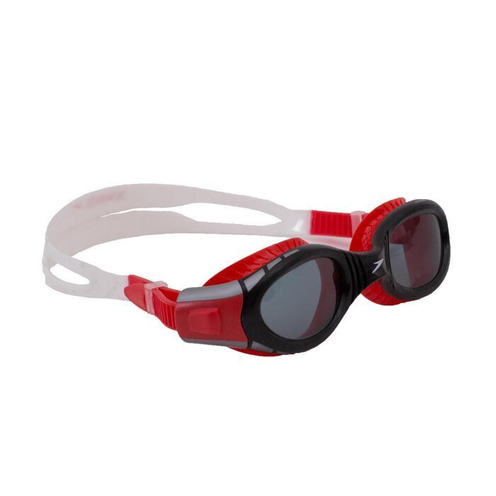 Schwimmbrille Futura Biofuse Größe S rot ungetönte Gläser