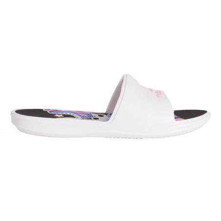 Kids' Pool Sandals Slap 500 - Derby White Black