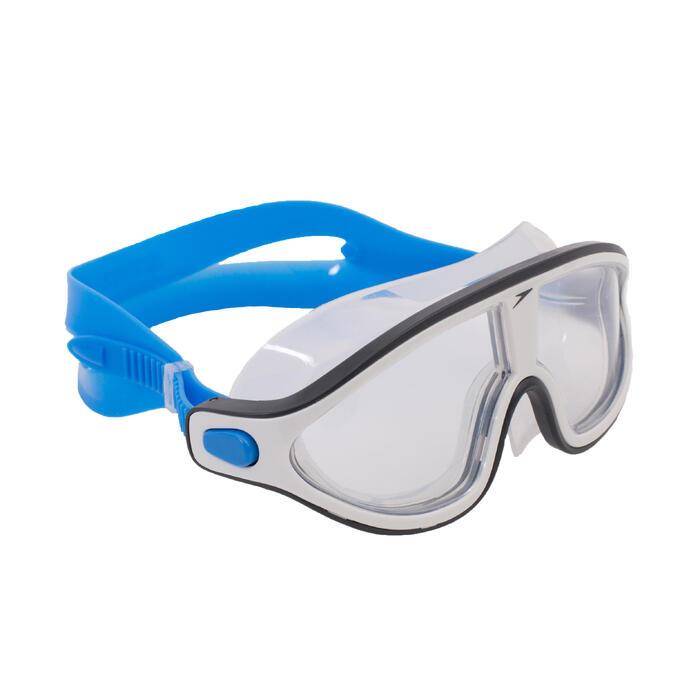 Zwembril Rift helder maat L blauw wit