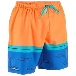 標準衝浪海灘褲100-霓虹配色衝浪款