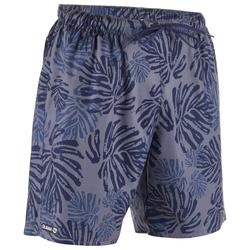 標準衝浪海灘褲100-深灰色及葉子款