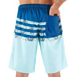 長版衝浪短褲100-冰款條紋