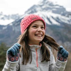 Fleecepullover Wandern MH120 Kleinkinder Mädchen 86-116cm grau