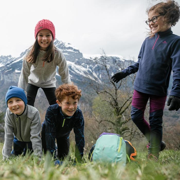 Fleecepullover Wandern MH120 Kleinkinder Mädchen 86-116cm türkis
