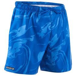 Bañador Surf Boardshort corto Olaian 100 aqua hombre azul estamapado
