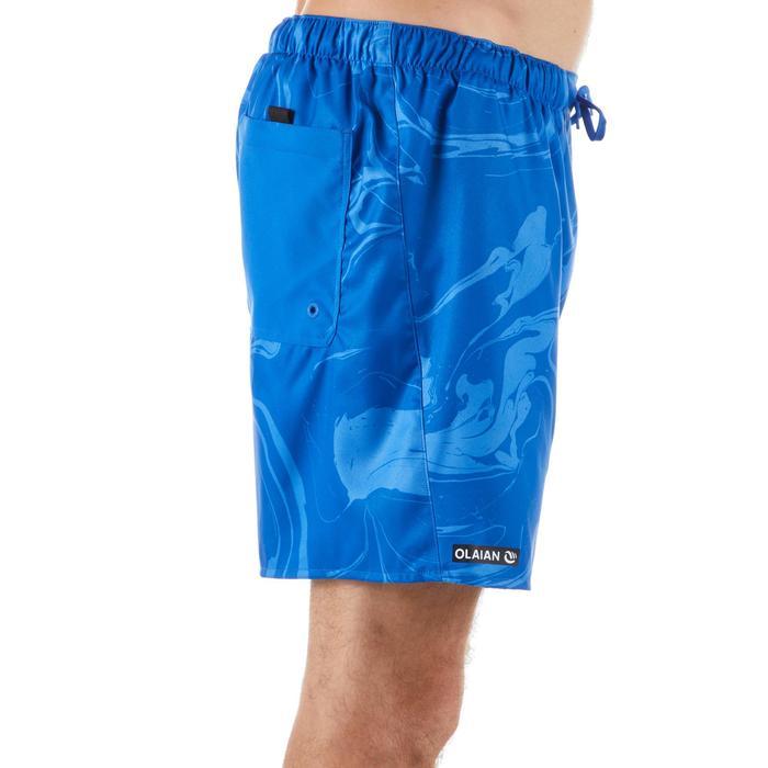 "Bañador Corto Surf Olaian 100 Aqua Hombre Azul Estamapado 16"""