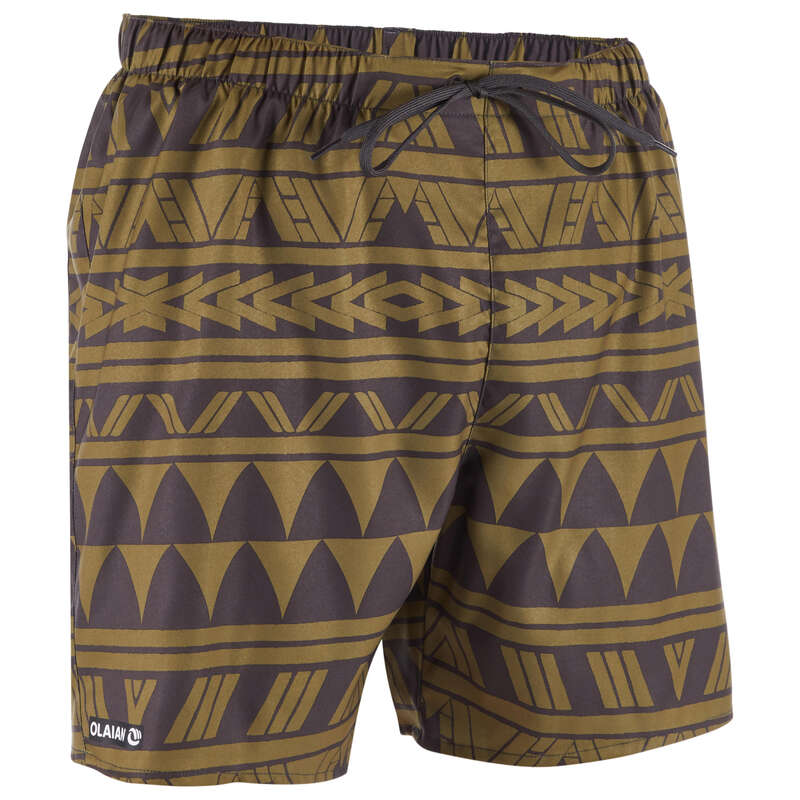 MEN'S BEGINNER BOARDSHORTS Swimwear and Beachwear - BBS 100 - Ethnic Khaki OLAIAN - Swimwear and Beachwear
