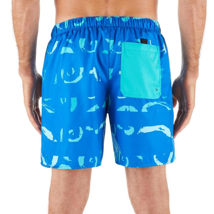 """Bañador Corto Surf Olaian 100 Maori Hombre Azul Turquesa 16"""""""