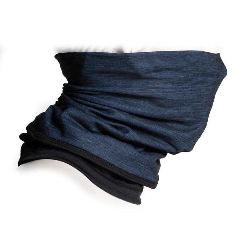 CACHE-COU 500 BI-MATIÈRE gris/noir