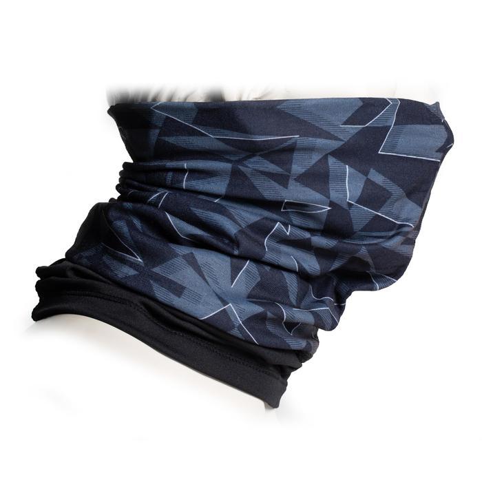 Nekwarmer in 2 materialen 500 grijs / zwart / wit