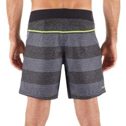 Surf boardshort court 500 Lines Black