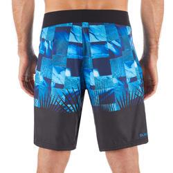 Boardshorts Surfen Standard 500 Tropicsquare blau